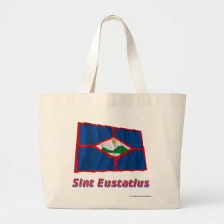 Sint Eustatius som vinkar flagga med namn Tygkassar