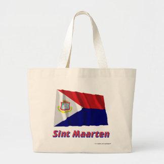 Sint Maarten som vinkar flagga med namn Kasse