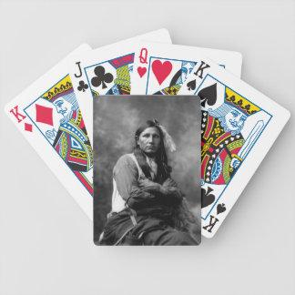 Sioux för slipad spindel som högsta vilda western  spelkort