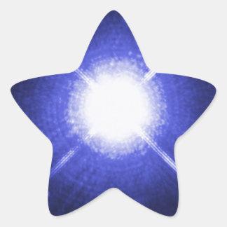 Sirius A och för B ljusa nattstjärnor Stjärnformat Klistermärke