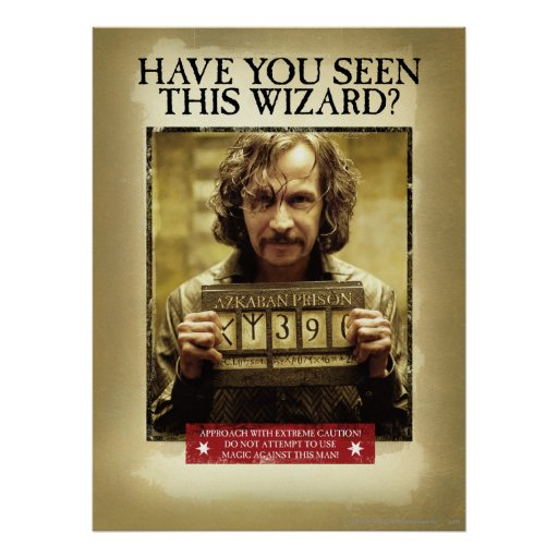 Sirius svart önskad affisch