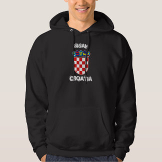 Sisak Kroatien med vapenskölden Hoodie