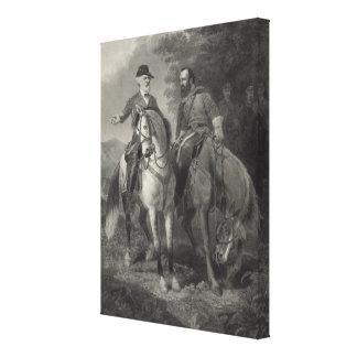 Sist möte av Robert E. Lee & Stonewall Jackson Canvastryck