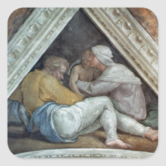 Sistine kapelltak: Förfäderna av Kristus Fyrkantigt Klistermärke