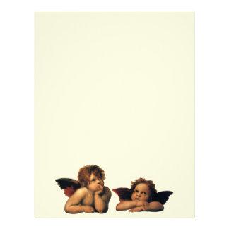 Sistine Madonna, änglar specificerar vid Raphael Brevhuvud