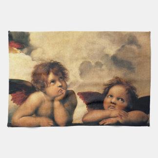 Sistine Madonna, änglar specificerar vid Raphael Kökshandduk