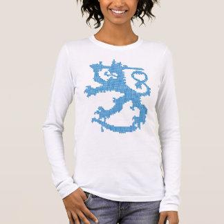 Sisu lejona kvinna inpassade långärmad tee shirts