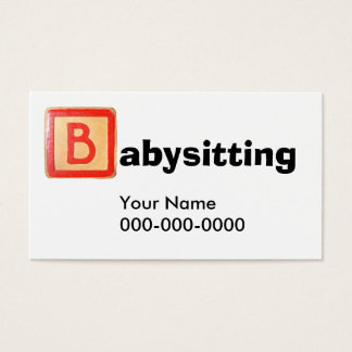 Sitta barnvakt visitkort