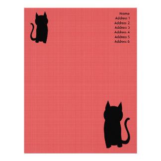 Sittande svart kattSilhouette. Brevhuvud