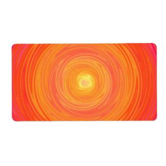 Sixtieslutning - Psychedelic orangegult Fraktsedel