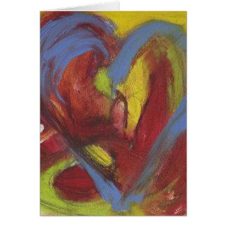 Sizzling av hjärta OBS kort