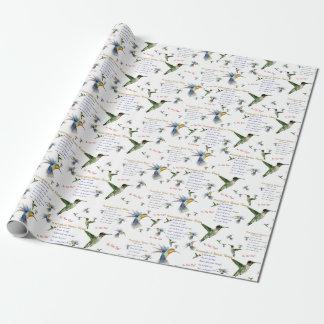 Sjal för gåva för HummingbirdNectarrecept Presentpapper