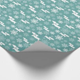 Sjal för gåva för jul för taxsnöflingorkricka presentpapper