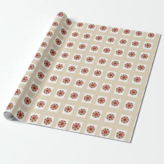 Sjal för gåva för stjärna för kräm- orange grå presentpapper