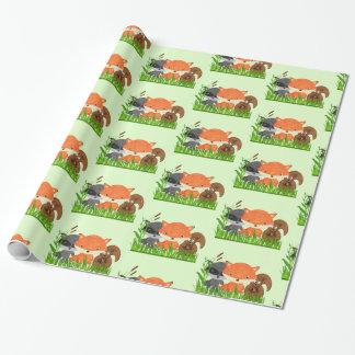 Sjal för gåva för varelser för skogdjurskogsmark presentpapper