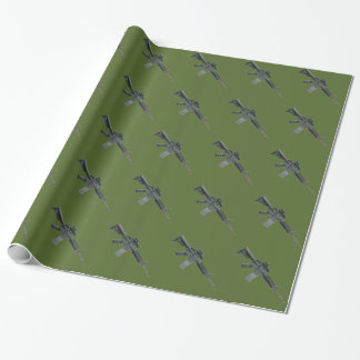 Sjal för gåva M4 för OD grön militär Presentpapper
