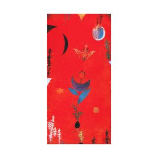 Sjal för kanfas för Paul Klee blommaMyth Canvastryck
