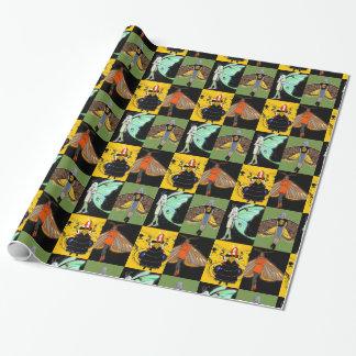 Sjal för malälvorgåva som slår in den pappra fen presentpapper