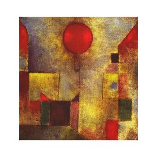 Sjal för Paul Klee röd ballongkanfas Canvastryck