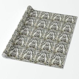 Sjal för silverBuddha gåva Presentpapper