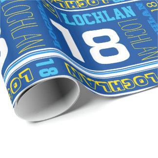 Sjal för sport för födelsedag för personlignamn presentpapper