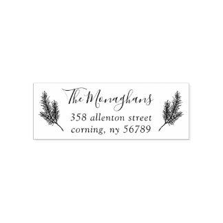Själv-Inking frimärke för gräslövruskareturadress Självfärgande Stämpel