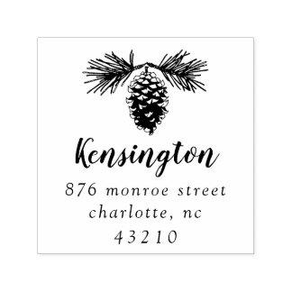 Själv-Inking frimärke för Pinecone | returadress Självfärgande Stämpel