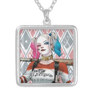 SjälvmordSquad | Harley Quinn Silverpläterat Halsband