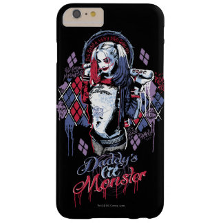 Självmordsquaden | Harley Quinn Inked grafitti Barely There iPhone 6 Plus Skal