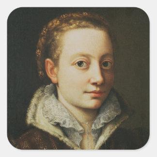 Självporträtt 1559-61 fyrkantigt klistermärke