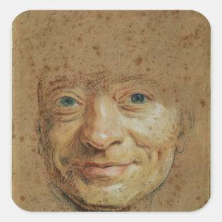 Självporträtt 2 fyrkantigt klistermärke