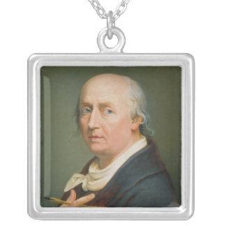 Självporträtt 2 silverpläterat halsband