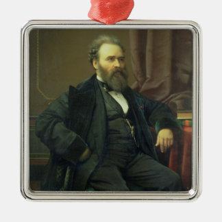 Självporträtt av konstnären 1869 olja på kanfas juldekoration