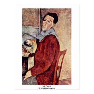 Självporträtt av Modigliani Amedeo Vykort