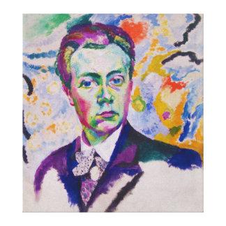 Självporträtt av Robert Delaunay Canvastryck