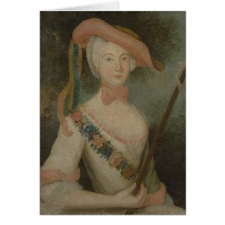 Självporträtt c.1725-40 hälsningskort