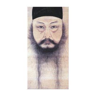 Självporträtt för Yun Du-seo Canvastryck