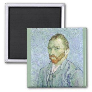 Självporträtt i blått av Vincent Van Gogh Magnet