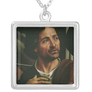 Självporträtt Silverpläterat Halsband