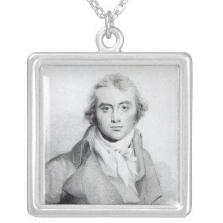Självporträtt som inristas av J. Worthington Silverpläterat Halsband