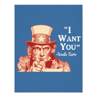 Självständighet Juli 4 för Uncle Sam för vintage a Skräddarsydda Inbjudan