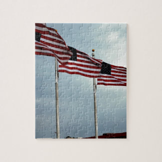 Självständighet Juli för rand för amerikanska Pussel