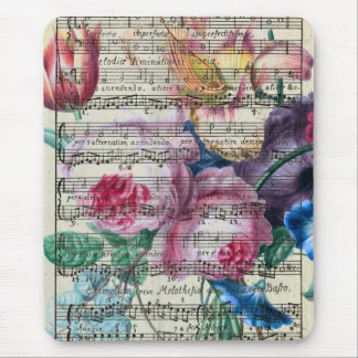 Sjaskig musik noter för bukett musmatta