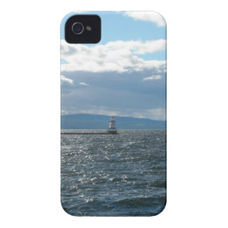 Sjö Champlain med en vind iPhone 4 Cover