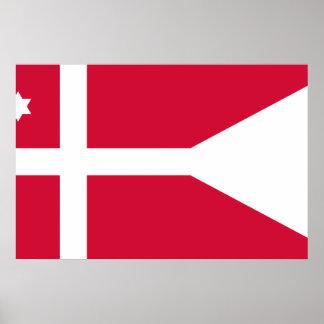 Sjö- frodiga Danmark - flottiljamiral, Danmark Posters