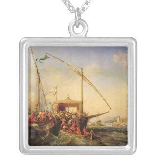 Sjö- strid av Imbre i 1346, 1842 Silverpläterat Halsband