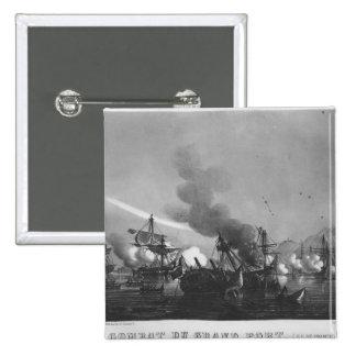 Sjö- strid av storslagen port, Mauritius, i 1810 Standard Kanpp Fyrkantig 5.1 Cm
