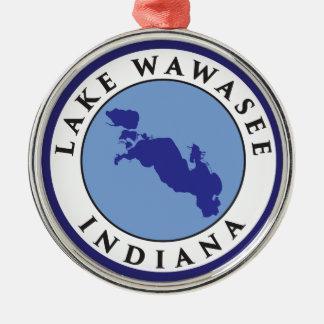 Sjö Wawasee, Indiana Julgransprydnad Metall