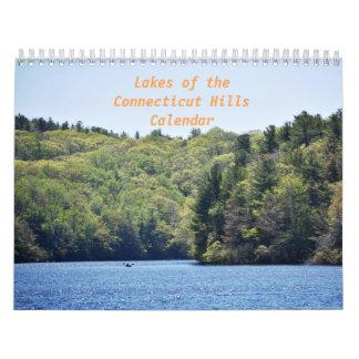 Sjöar av den Connecticut backekalendern Kalender