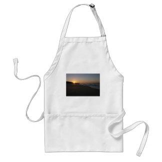 Sjöar hänrycker soluppgång förkläde